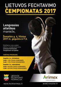 Fechtavimosi cempionatas 2017 04 24 A2 420x594 plakatas V1_perziurai_01
